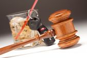Gavel, Alcoholic Drink & Car Keys