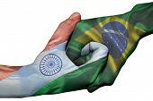 Handshake Between India And Brazil
