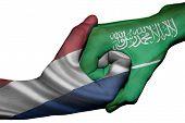 Handshake Between Netherlands And Saudi Arabia