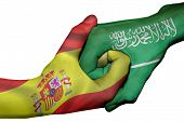 Handshake Between Spain And Saudi Arabia