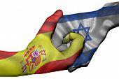 Handshake Between Spain And Israel