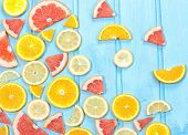 Mix Fresh Sliced Citrus