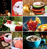 Christmas drinks collage