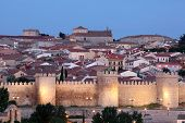 City Walls Of Avila At Dusk, Spain