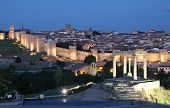 City Of Avila At Dusk, Spain