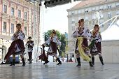 ZAGREB, CROATIA - JULY 17: Folk group Selkirk, Manitoba, Ukrainian Dance Ensemble Troyanda from Cana