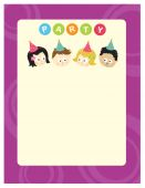 Party kids 8.5x11 flyer (mixed nationalities)