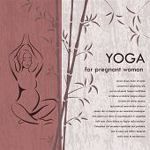 Yoga for pregnant woman. Background.