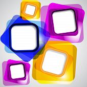 Abstract background of color squares.