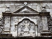 foto of cebu  - Wall in the courtyard of the old catholic church of the Basilica del Santo Nino - JPG