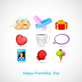 illustration of Happy Friendship Day background with gifts