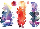 Watercolor vector splatters