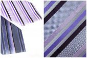 Blue And Violet Tie