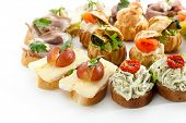 picture of canapes  - Delicious Appetizer Cheese Canapes - JPG