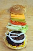 BBQ Hamburger With Toppings
