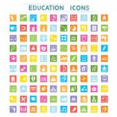 education icons, flat icons