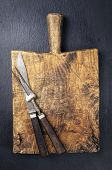 antique chopping board