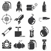 weapon, bomb icons