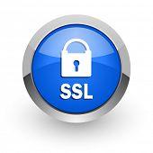ssl blue glossy web icon