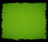 green metal hole with black border