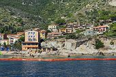 Giglio Island, Italy - July 19, 2014:boats In The Small Harbor Of Giglio Island, The Pearl Of The Me