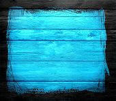cyan wood textured with black border