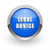 legal advice blue glossy web icon