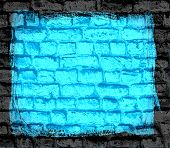 cyan brick wall textured background