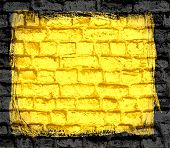 yellow brick wall textured background