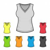 pic of v-neck collar  - Women - JPG