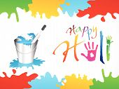 Abstract Happy Holi Background.eps