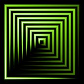 green neon square vector background