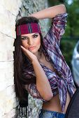 Attractive Woman With Headband