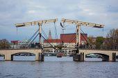 Magere Bridge In Amsterdam