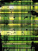 Checkered Green Grunge Background