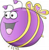 Cute Happy Spring Bee Vector Art
