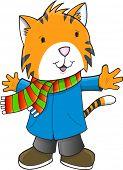 Christmas Holiday Winter Tiger Art