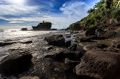 Old Oriental Temple, Tanah Lot, Bali, Indonesia.