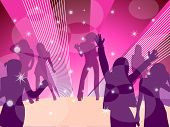 Disco dance scene background