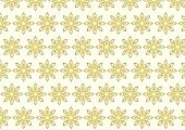Gold Tribal Bloom And Lobe Pattern On Pastel Background