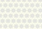 Silver Tribal Bloom And Lobe Pattern On Pastel Background