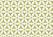 Green Modern Sweet Blossom Pattern On Pastel Background