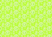 Green Abstract Circle Pattern On Pastel Background
