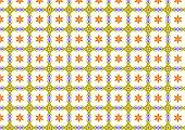 Dark Yellow Retro Or Old Flower And Tribal And Leaves Pattern On Pastel Color