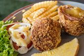 Delicious Pork Meatballs Stuffed With Cheese