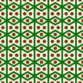 stock photo of parallelogram  - Green rhombohedron or parallelogram pattern on pastel background - JPG