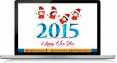 Happy new year greeting card for everybody