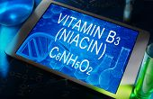 the chemical formula of vitamin B3 (niacin)