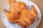 Appetizing piping hot homemade chicken