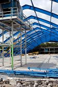 Metal Frame Structure On Decontruction Site